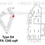 Type D4 - 1240 sqft
