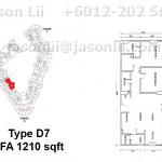Type D7 - 1210 sqft