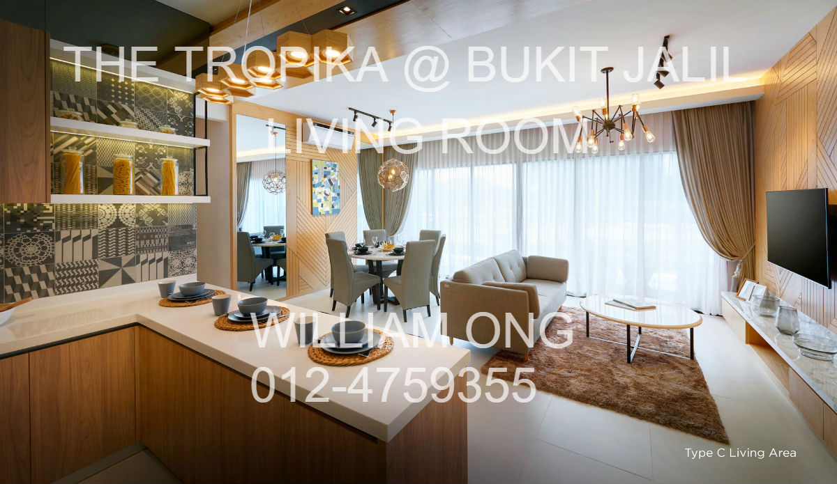 BUKIT JALIL | THE TROPIKA | LIVING ROOM