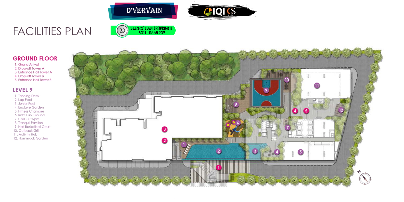 D'Vervain Podium Facilities Plan