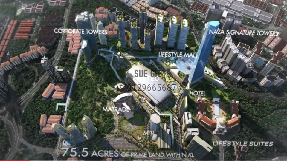 75 acres of new Central Business District in Mont Kiara.